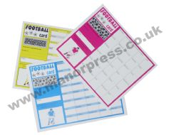 FOOTBALL TEAM SCRATCH CARDS